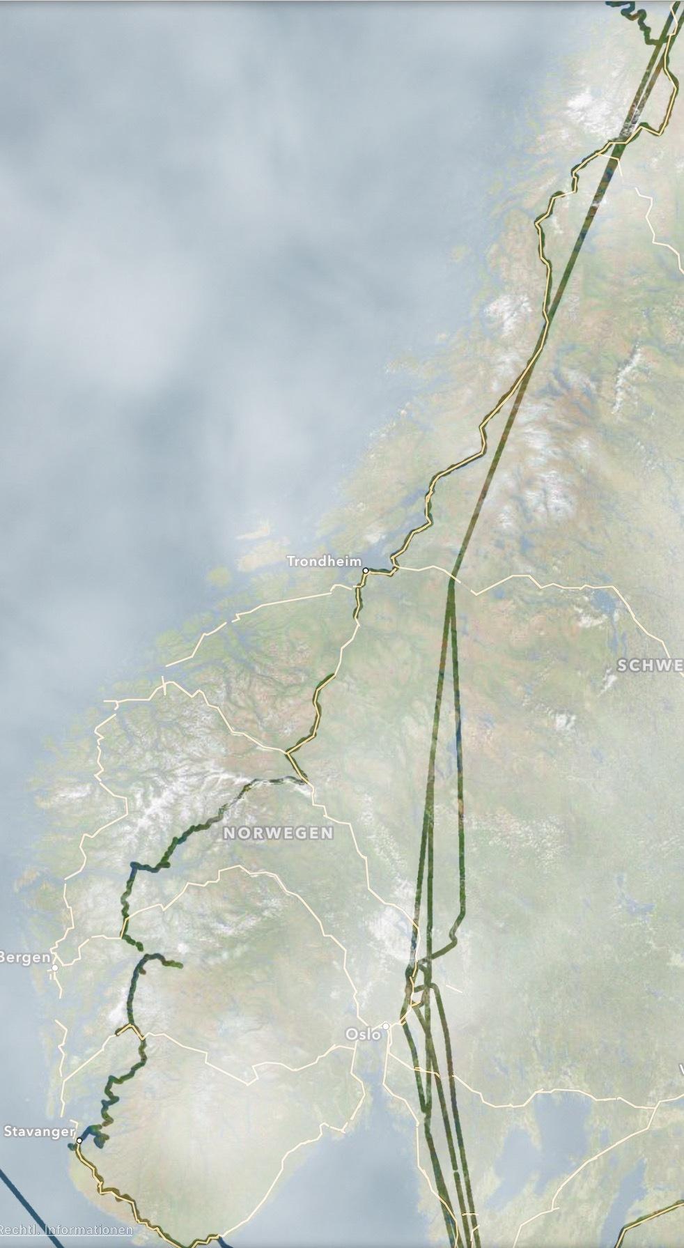 Norwegen nach unten